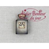 フランス製 木製ボタン 香水No5